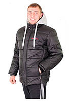 Зимняя мужская куртка 178 черная, фото 1