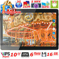 3 в 1 Планшет 10'' LENOVO Joga Андроид 6 ядер Rom 16 гб ОЗУ 1 гб 2 сим IPS GPS Навигатор 3G Подарки леново sim