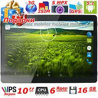 "3G Планшет 10"" LENOVO Joga  2 sim GPS IPS 16 GB 1 GB 6 ядер Андроид 2 сим Подарки защитная пленка + чехол кож"