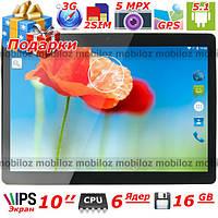 """Большой 10"""" 3G Планшет LENOVO Joga 6 ядер Андроид 16 гб 1 гб GPS поддержка 2 сим Подарок чехол кож и пленка"""