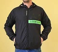 Мужская спортивная куртка черная Reebok 9408 код 270б
