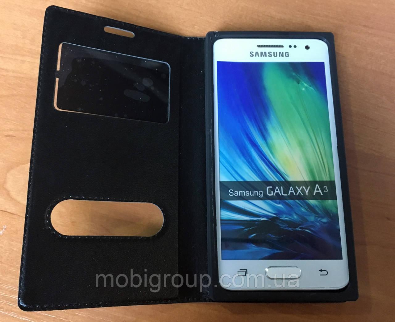 Книжка-чехол кожа для Samsung А310 (2016)