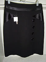 Женская классическая юбка черного цвета большой размер, фото 1