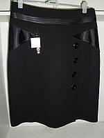 Женская классическая юбка черного цвета большой размер