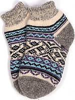 """Шерстяные короткие носки женские """"Орнамент"""""""