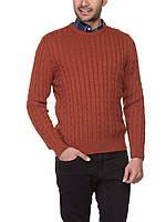 Мужской рыжий свитер LC Waikiki с мелкими косицами, фото 1