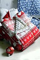 Теплое одеяло-конверт на выписку из роддома