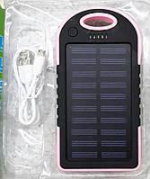 Портативная зарядка Powerbank на солнечных элементах питания
