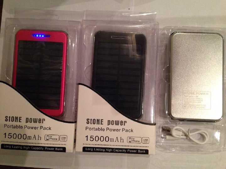 Power Bank с Солнечной батареей 15000 мА Гелевый Акция!