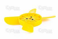 Крыльчатка радиатора ВАЗ 2101, 2102, 2103, 2104, 2105, 2106, 2107 (4х лоп.) (желтая) АВТОПЛАСТ