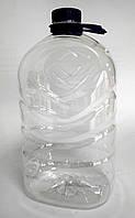 Бутылка ПЭТ прозрачная 5л с крышкой и ручкой