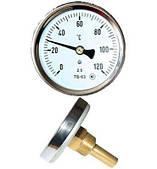 Термометр биметаллический ТБ 63-100 (0+120°С) с осевым штуцером