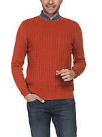 Мужской свитер LC Waikiki кирпичного цвета с мелкими косицами