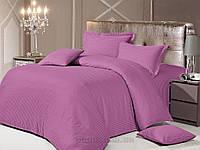 Постельное белье Love You страйп-сатин фиолетовое-28 Двуспальный евро комплект