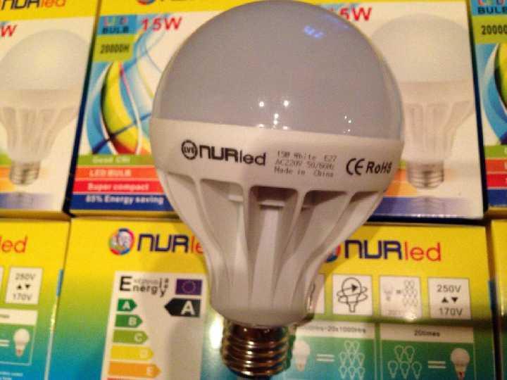 Лампа светодиодная лампочка LED 15W E27 10шт Акция!
