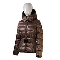 Пуховик женский Snowimage средней длины коричневый