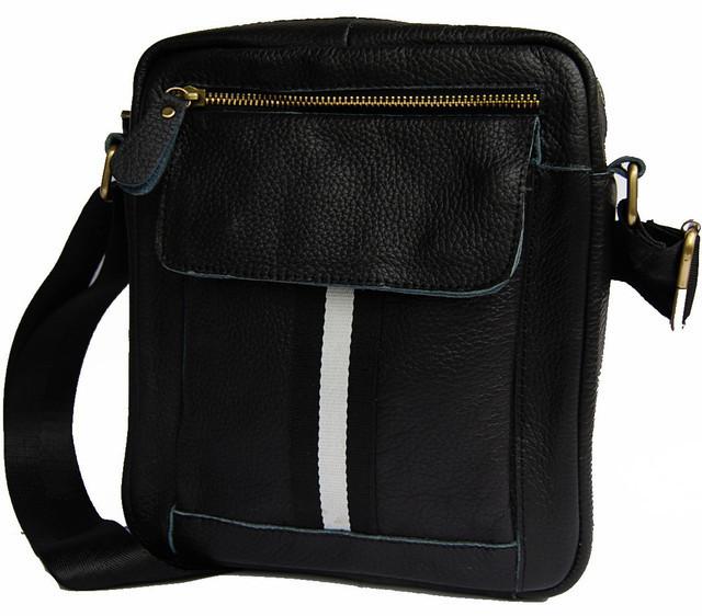 Кожаная мужская сумка. Мужская сумка. Сумка через плечо. Молодёжные сумки.
