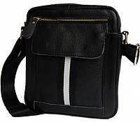 Кожаная мужская сумка. Мужская сумка. Сумка через плечо. Молодёжные сумки. , фото 1