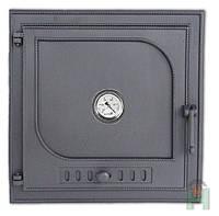 Дверка для печи с термометром (48.5 х 48,5 см/ 41,5 х 41,5 см)