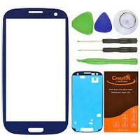 Стекло Samsung i9100 Galaxy S2 голубой h/c