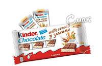 Киндер Шоколад Кантри со злаками плитка 4 шт.  / Kinder Country, 94 г