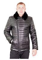 Зимняя мужская куртка косуха 132 черная, фото 1