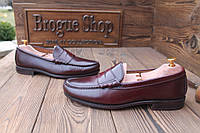 Мужские  туфли лоферы Leather Sole, made in USA, 28 см, 43 размер. Код: 158.