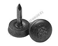 Набойка металлическая на штыре, 013 мм, круглая, фото 1