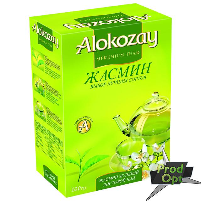 Чай Alokozay зелений з жасмином 100 г