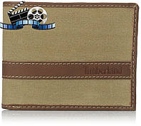 Кошелек Timberland Hunter Passcase Canvas-Leather, Khaki