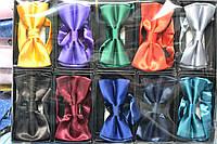 Галстуки-бабочки однотонные