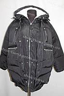 Женская зимняя куртка на замке с капюшоном черная