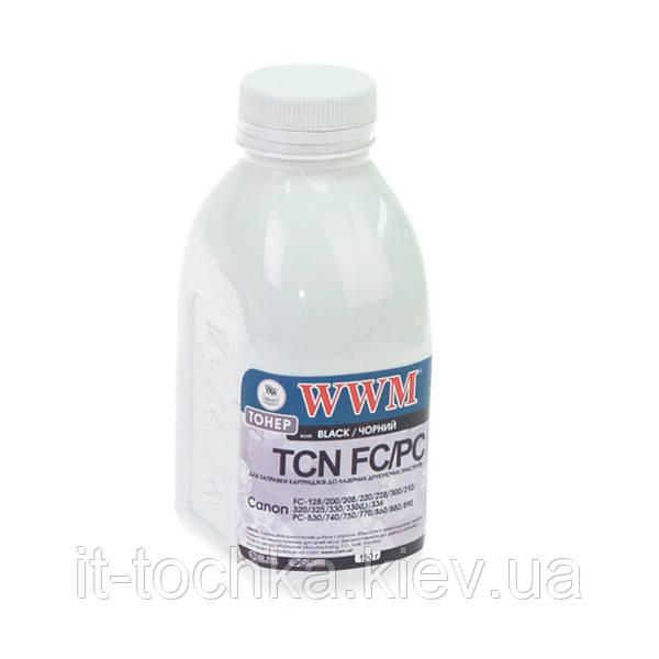 Тонер wwm для canon fc-128/230/310/330 бутль 150г black (tb78-1)