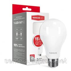 Светодиодная лампа 1-LED-567 A70 15W 3000K 220V Е27 Maxus