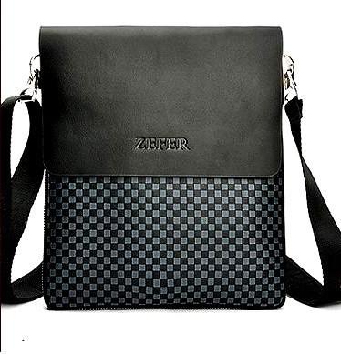 Мужская сумка Zefer. Кожаная мужская сумка. Мужская сумка. Сумка через плечо. Молодёжные сумки. , фото 1
