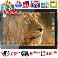"Интернет Планшет LENOVO Joga 10"" Телефон Навигатор Android 3G 6 ядер 16 Gb 1 Gb IPS 2 сим подарок чехол пленка"