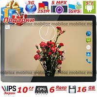 """Планшет Телефон 10"""" LENOVO Joga Android шестиядерный 16 Гб ОЗУ 1 Гб IPS 3G GPS 2 sim wi fi навигатор Подарки"""