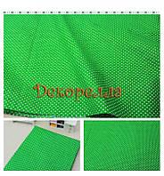 Ткань, 50*50см (белый горох на зеленом)