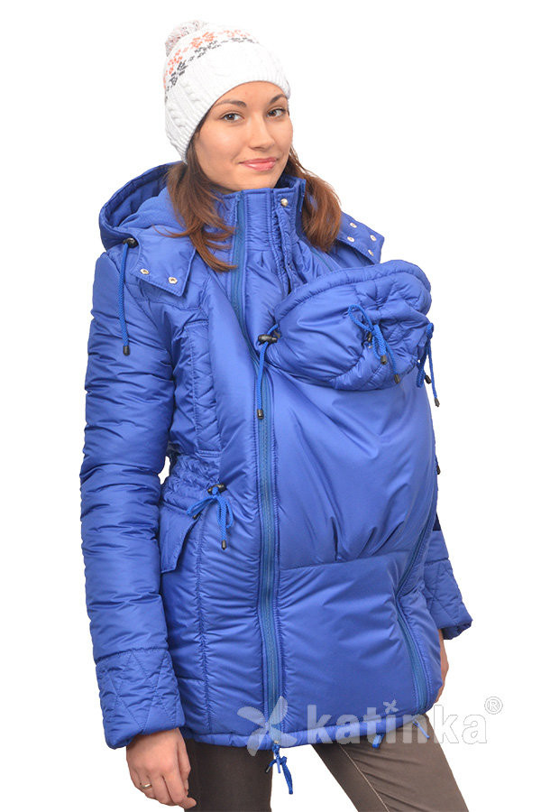 Зимняя куртка для беременных и слингоношения 4в1, цвет-королевский синий