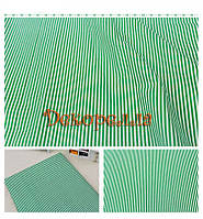 Ткань, 50*50см (зелено-белая полоска)