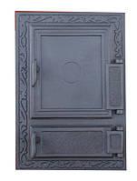 Дверка для печи спареная  (47,5 х 32,5 см/ 39 х 24 см)