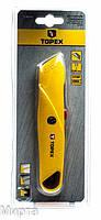 Нож с трапецивидным лезвием TOPEX 17B140 метал. Корпус (БС)