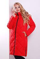 Женская красная куртка удлиненного фасона, фото 1