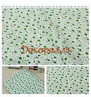 Ткань, 50*50см (зеленые листики на белом)