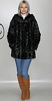 Искусственная женская шуба черная норка  М-226 42-52 размеры