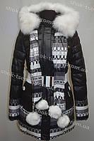 Женская зимняя куртка на замке с капюшоном
