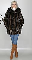Искусственная женская шуба коричневая норка  М-226 42-52 размеры