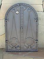 Дверка для печи с термометром  (60,5 х 41 см/ 55,5 х 35,5 см)