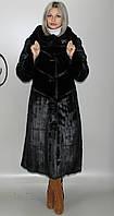 Длинная женская искусственная шуба черная норка  М-231 44-58 размеры