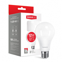 Светодиодная лампа 1-LED-563 A65 12W 3000K 220V E27 Maxus